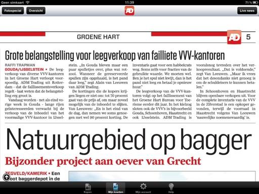 Pers Artikel Ad Na Afloop